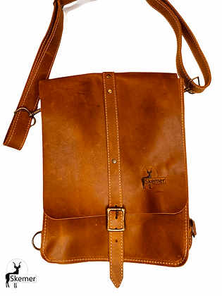 Skemer Full Grain Leather Shoulder Bag/Backpack