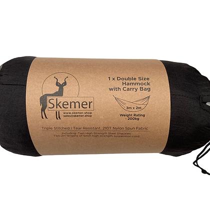Skemer Double Hammock (Black/ Grey)