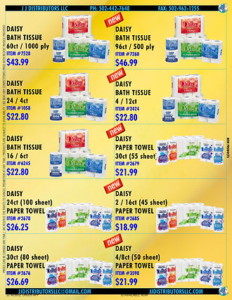 6.10 DAISY BATH TISSUE & PAPER TOWEL INT