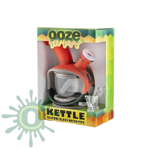 Ooze Kettle - Black/Grey/REd Silicone Bubbler