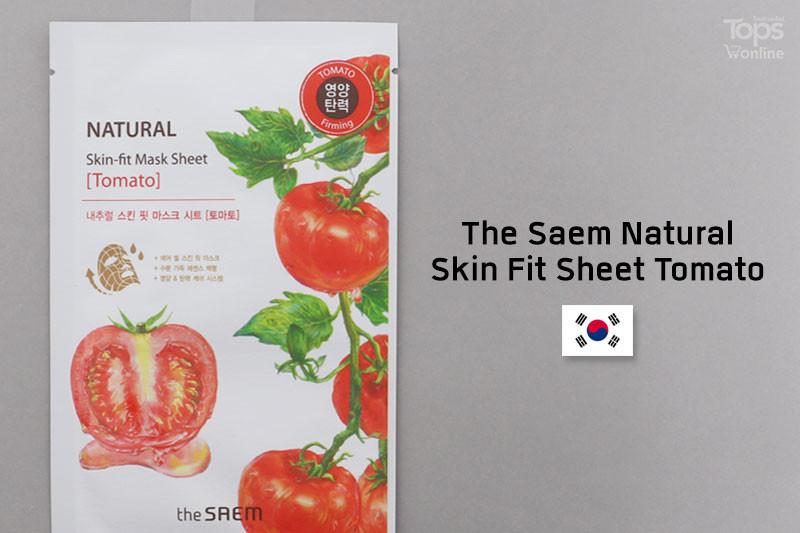 The Saem Natural Skin Fit Sheet Tomato