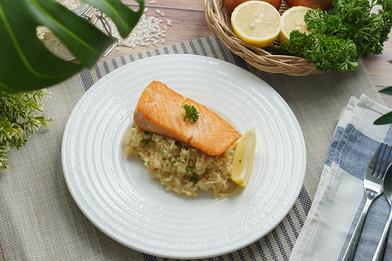 รีซ็อตโตแซลมอนย่าง Easy Cooking by Tops
