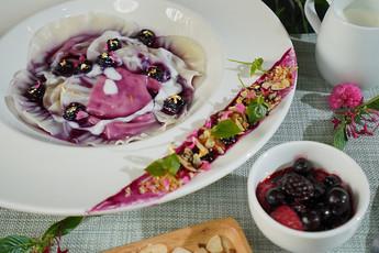 ราวิโอลีเกี๊ยวซ่าผลไม้ครีมชีส Fusion Dishes