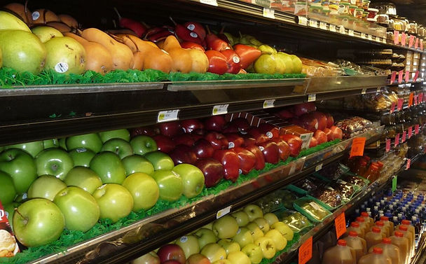 Display of fresh fruit in the produce department