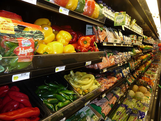 Wide selection of fresh produce