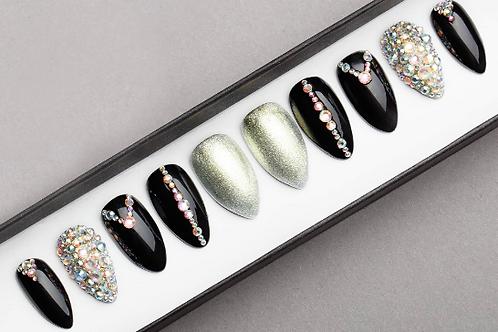 Crystal Press On Nails