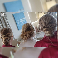 Hair by us for my stunning bride and her