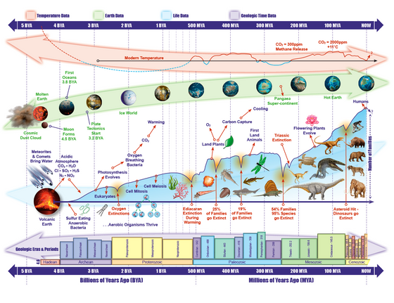 5 Billion Years of Life on Earth