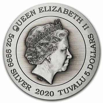 Tuvalu 5 dollars zodiac medal