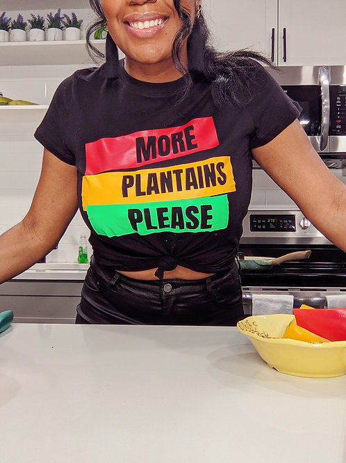"""Women's """"More Plantains Please"""" Tee"""