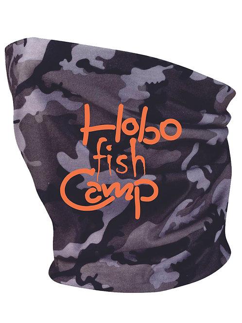 Hobo Fish Camp Neck Gaiters Gray/White Camo