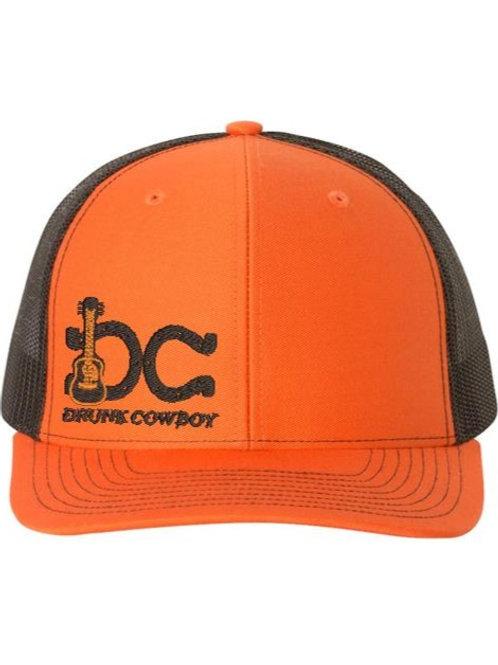 DrunkCowboy Guitar Black/Orange logo