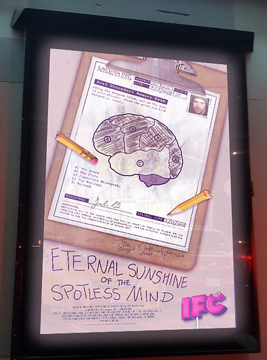 Eternal Sunshine of the Spotless Mind One-Sheet Movie Poster Mock-Up