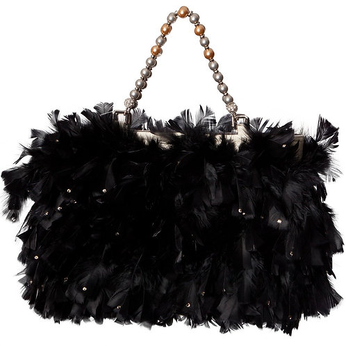 Angel of The Night Sky - MARY Grande Leather Hangbag