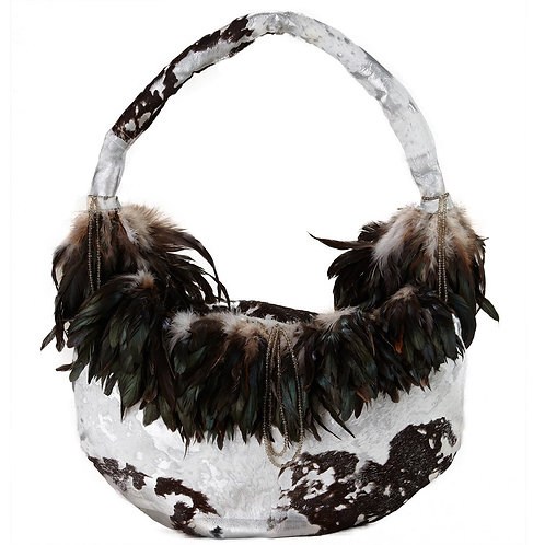 Angel of the Forest - TONI Grande Crescent Leather Bag