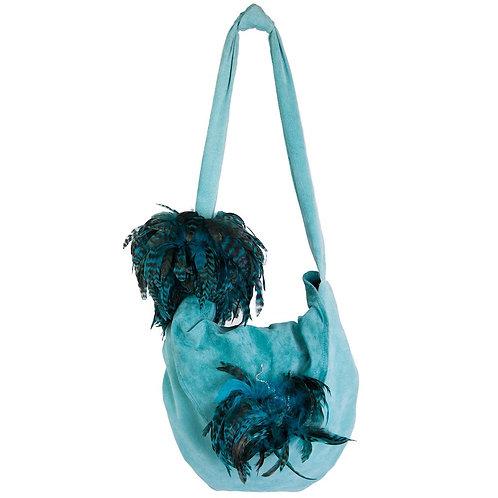 Angel of the Deep Blue Sea - TONI Grande Crescent Leather Bag