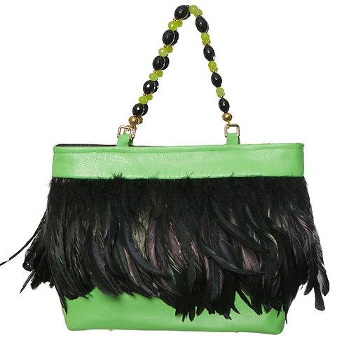 Angel of the Night Sky - MARY Medio Leather Handbag