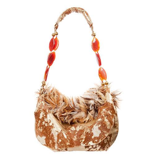Angel of Belief - TONI Medio Crescent Leather Bag