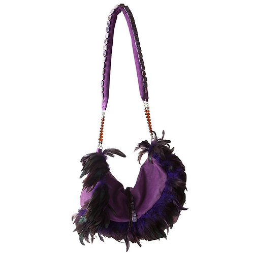 Angel of the Royal Purple Realm - TONI Super Crescent Leather Bag