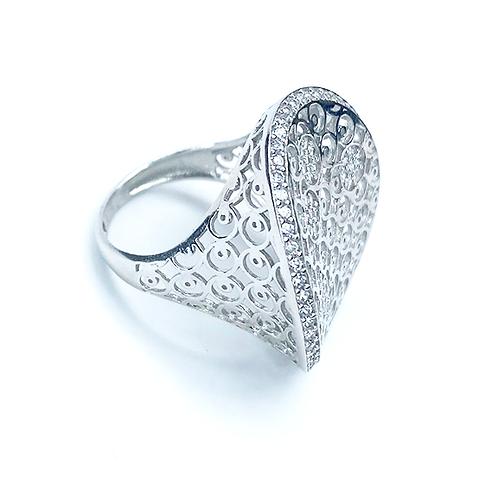 Wave Zirconia Diamond Ring
