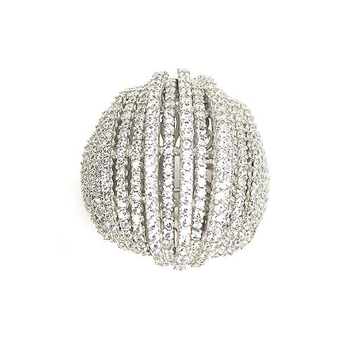 Zirconia Cascade Silver Ring