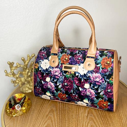 Flower Print Leather Bag