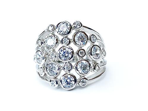 Zirconia Calash Silver Ring