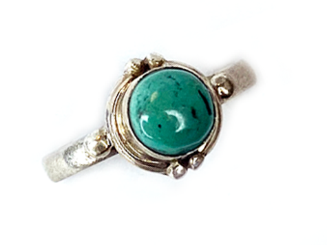 Turquoise Single Stone - Adjustable Ring