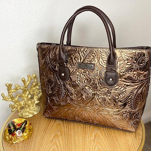Bronze Leather Shoulder Bag