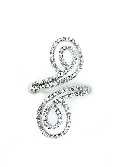 S Silver Zirconia Ring