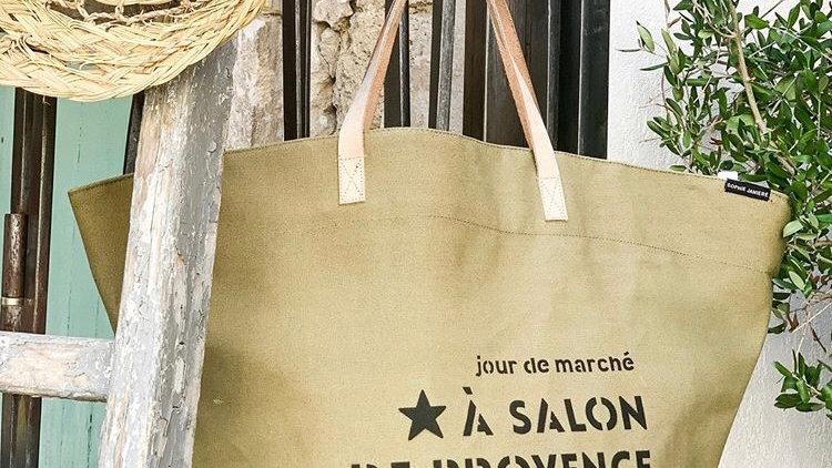 Cabas épaule «jour de marché à Salon de Provence»