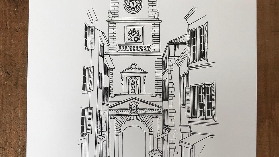 Affiche «la tour de l'horloge»