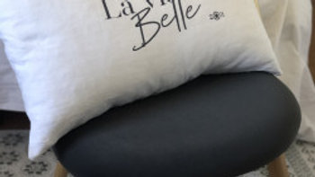 """Coussin """"la  vie est belle"""""""