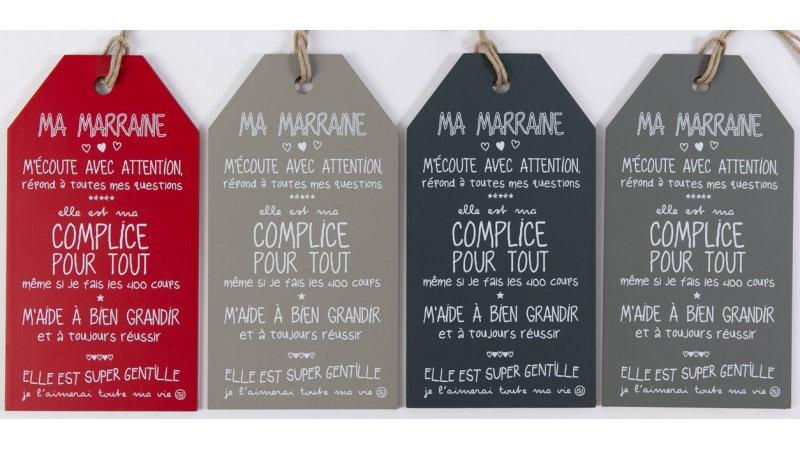 """Message étiquette """"Ma Marraine"""""""