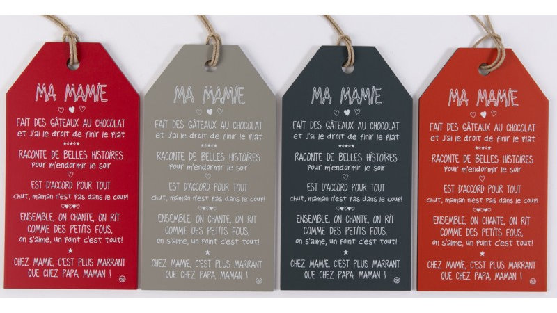 """Message étiquette """"Ma Mamie"""""""