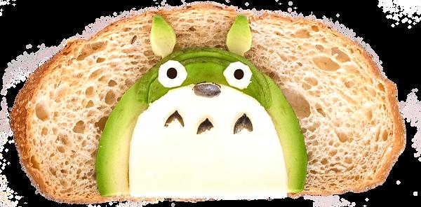 avocado toast art