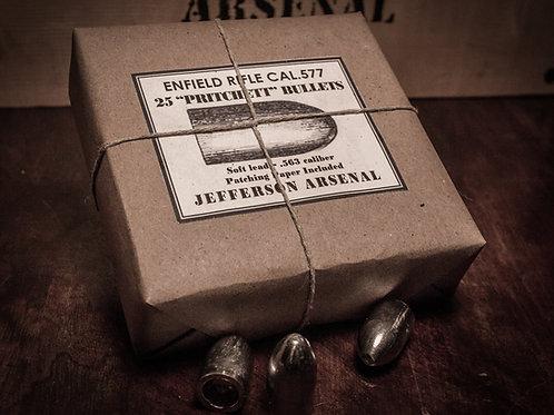 "Enfield ""Pritchett"" Bullets, .563cal, 25rds"