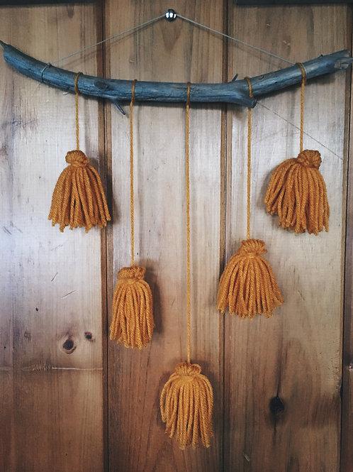 Tassel Wall Hanger - Mustard