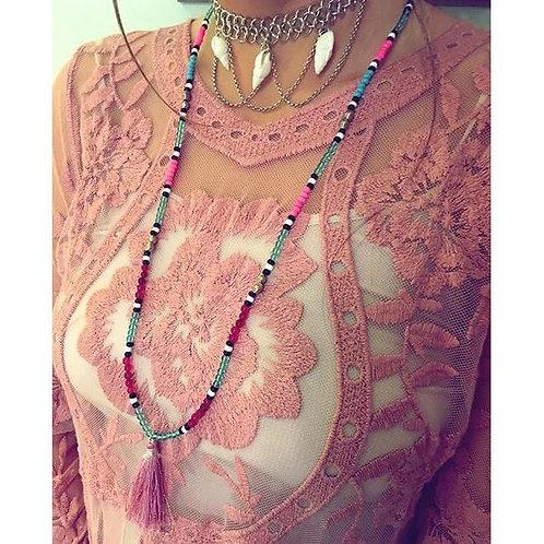 Candy Mala Necklace - Pink