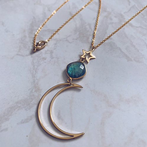 Labradorite Luna Necklace