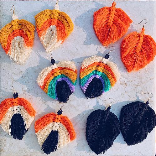 Halloween Macrame Earrings