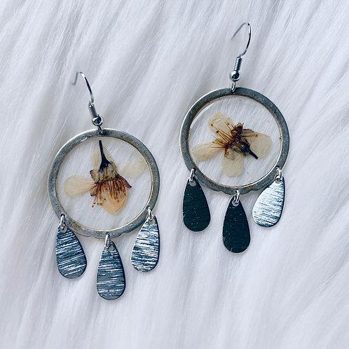 Cherry Blossom Dream Catcher Resin Earrings