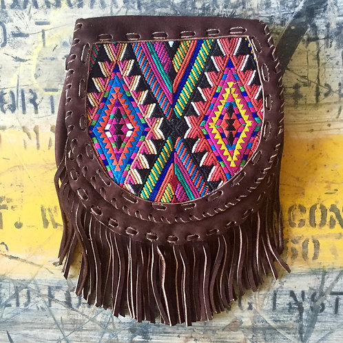 Karma Fringe Bag - Green