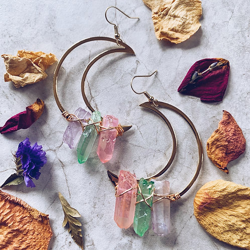 Magic Moon Aura Earrings