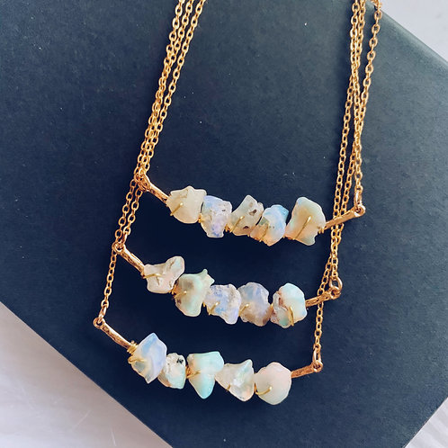 Opal Harmonies Necklace - Gold