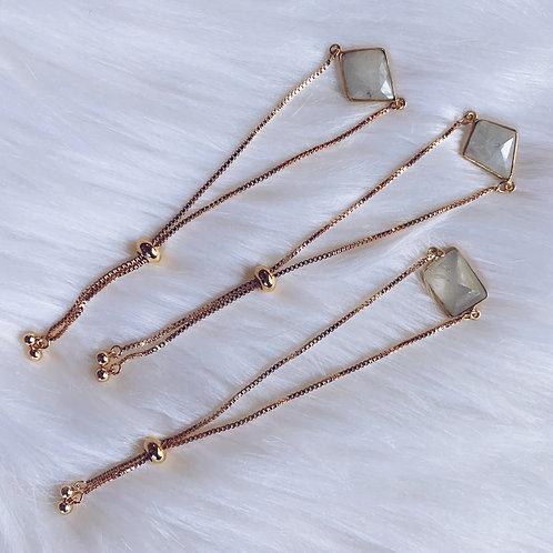 Adjustable Moonstone Bracelet