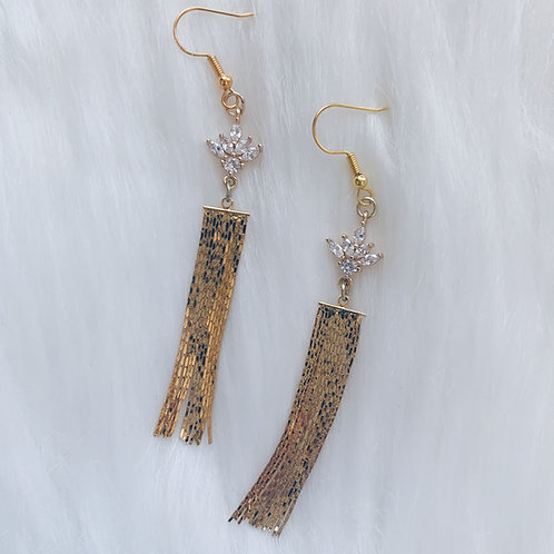 Zirconia Fringe Earrings