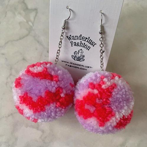 Sweetheart Pom Pom Earrings