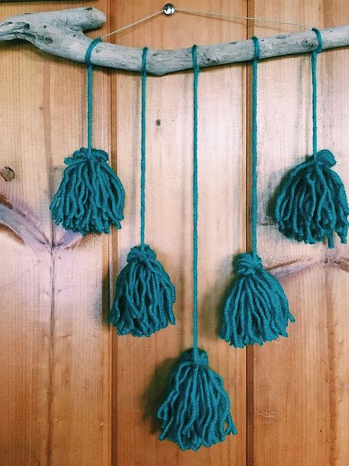 Tassel Wall Hanger - Teal