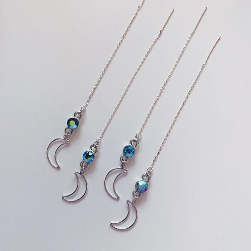Moon Glow Threader Earrings
